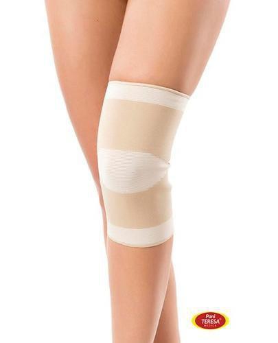 Pani Teresa Opaska elastyczna stawu kolanowego bezszwowa rozmiar M beżowa 1 sztuka