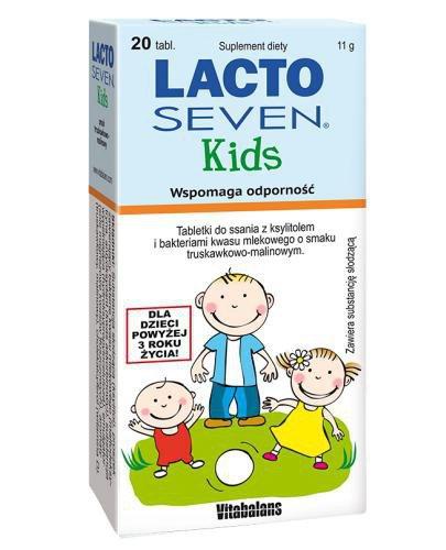 Lacto Seven Kids wspomaga odporność 20 tabletek do ssania