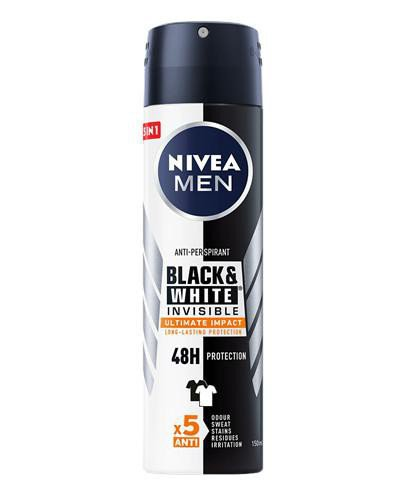 Nivea Men Black&White Invisible Ultimate Impact antyperspirant spray 150 ml