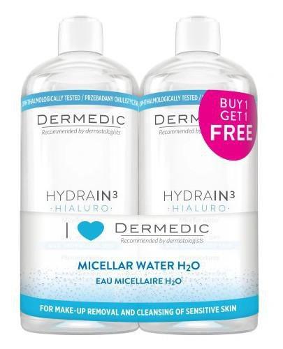 Dermedic Hydrain 3 Hialuro płyn micelarny H2O 2 x 500 ml