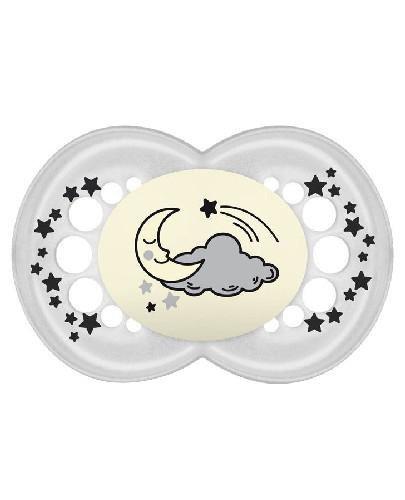 MAM Night smoczek uspokajający 16m+ szary z księżycem 1 sztuka
