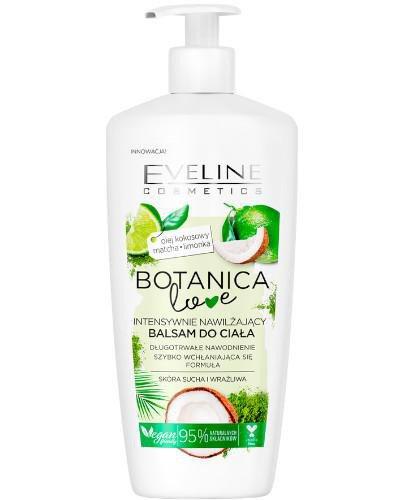Eveline Botanica Love intensywnie nawilżający balsam do ciała Olej kokosowy Matcha Limo...