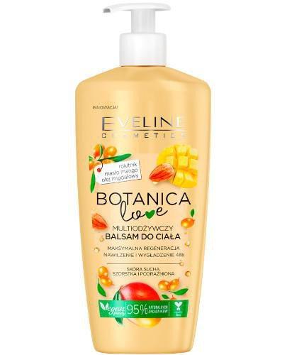 Eveline Botanica Love multiodżywczy balsam do ciała Rokitnik Mango Olej migdałowy 350 m...