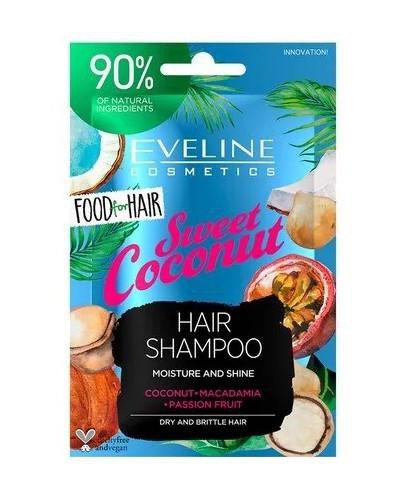 Eveline Food For Hair Sweet Coconut szampon do włosów normalnych i cienkich 20 ml