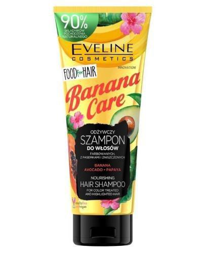 Eveline Food For Hair Banana Care szampon do włosów farbowanych z pasemkami i zniszczony...