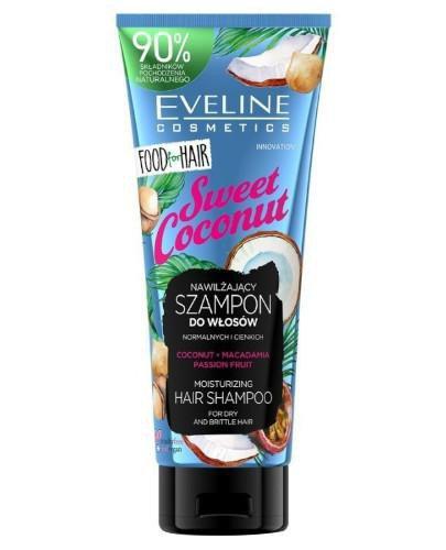 Eveline Food For Hair Sweet Coconut szampon do włosów normalnych i cienkich 250 ml
