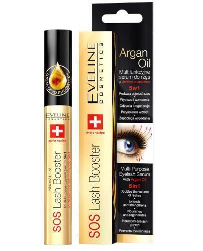 Eveline SOS Lash Booster multifunkcyjne serum do rzęs z olejkiem arganowym 5w1 10 ml