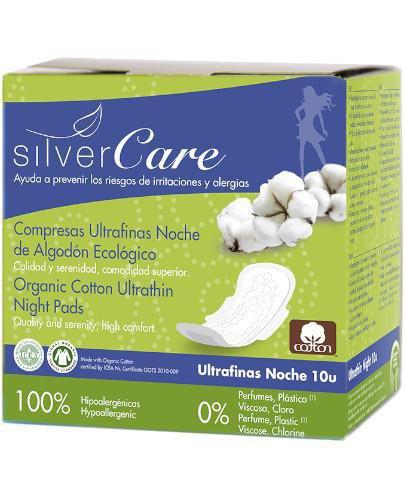 Masmi Silver Care ultra cienkie podpaski ze skrzydełkami na noc 10 sztuk