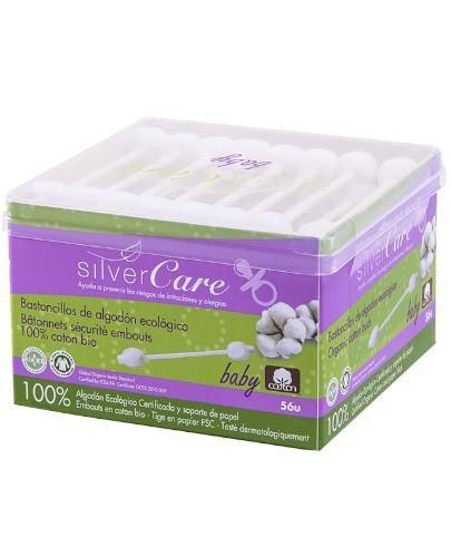 Masmi Silver Care patyczki higieniczne do uszu z organicznej bawełny dla niemowląt i dz...