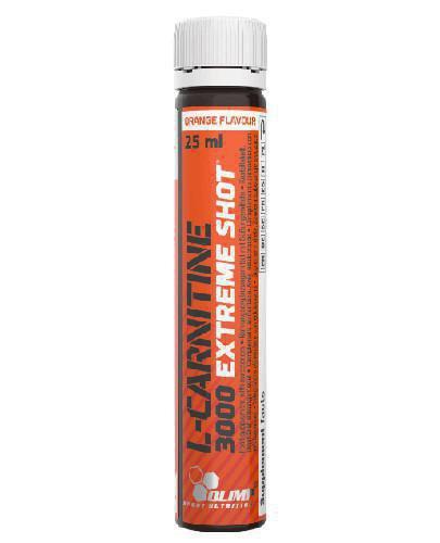 Olimp L-Carnitine 3000 Extreme Shot o smaku pomarańczowym ampułki 25 ml