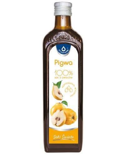 Oleofarm Pigwa 100% sok z owoców 490 ml