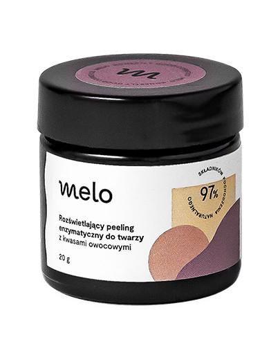 Melo rozświetlający peeling enzymatyczny do twarzy z kwasami owocowymi 20 g