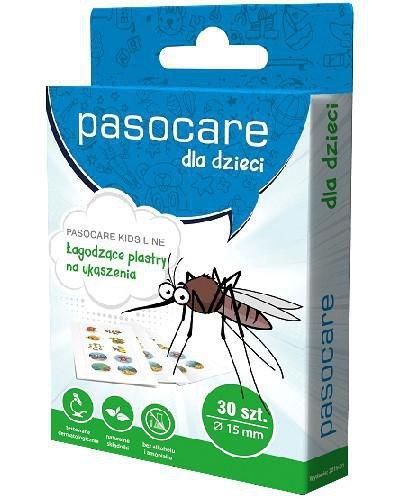 Pasocare Dla dzieci Łagodzące plastry na ukąszenia owadów 30 szt