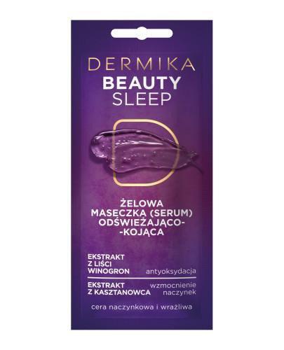 Dermika Beauty Sleep żelowa maseczka (serum) odświeżająco-kojąca 10 ml