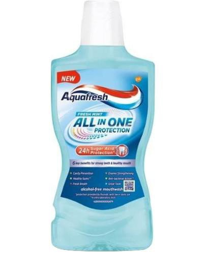 Aquafresh All In One Protection Fresh Mint płyn do płukania jamy ustnej 500 ml