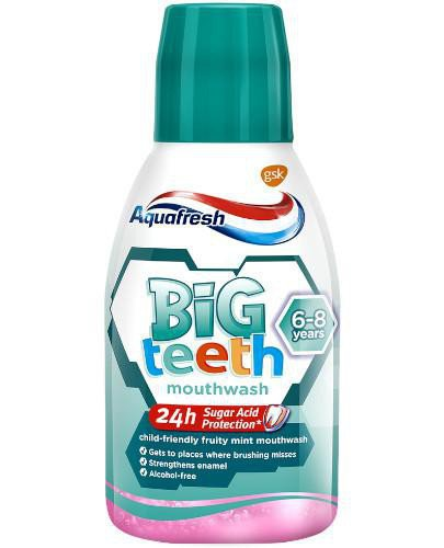 Aquafresh Big Teeth płyn do płukania jamy ustnej 300 ml