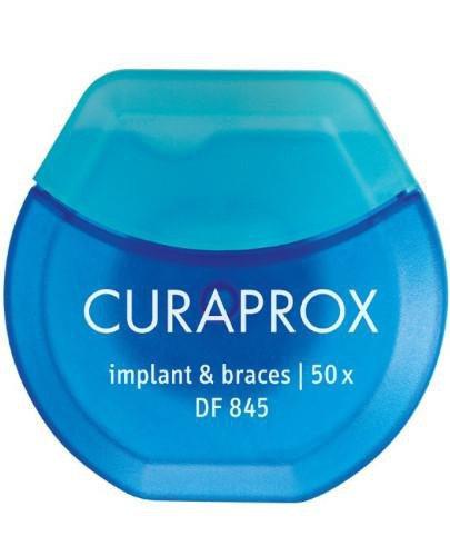 Curaprox DF 845 nić dentystyczna implanty i aparaty ortodontyczne 50 x 25 cm