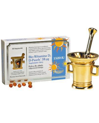 Bio-Witamina D3 D-Pearls 38 µg 80 kapsułek