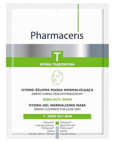 Pharmaceris T Sebo-Acti Mask hydro-żelowa maska normalizująca 1 sztuka