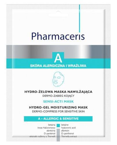 Pharmaceris A Sensi-Acti Mask hydro-żelowa maska nawilżająca 1 sztuka  + Hydro-żelowa ...