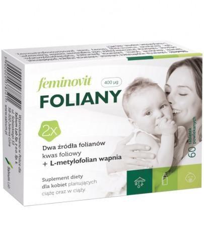 Feminovit Foliany 400 µg 60 tabletek