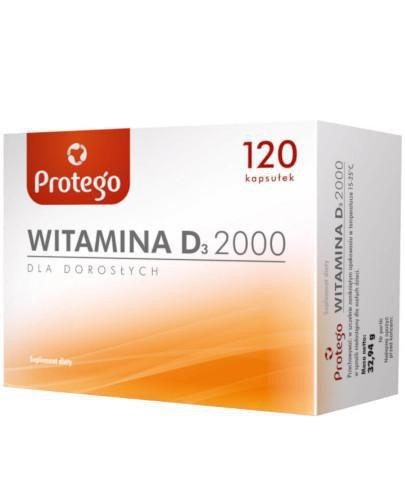 Protego witamina D3 2000j.m. dla dorosłych 120 kapsułek