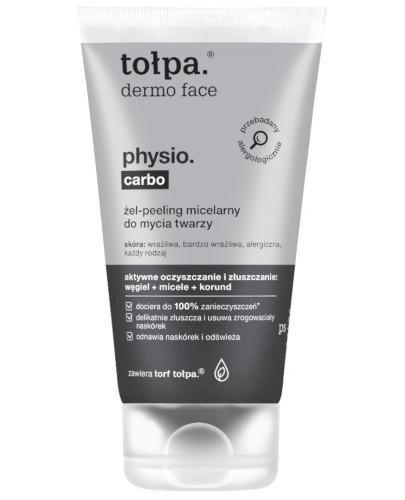 Tołpa Dermo Face Physio Carbo żel-peeling micelarny do mycia twarzy 150 ml