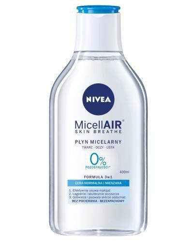 Nivea MicellAir Skin Breathe pielęgnujący płyn micelarny do cery normalnej i mieszane...
