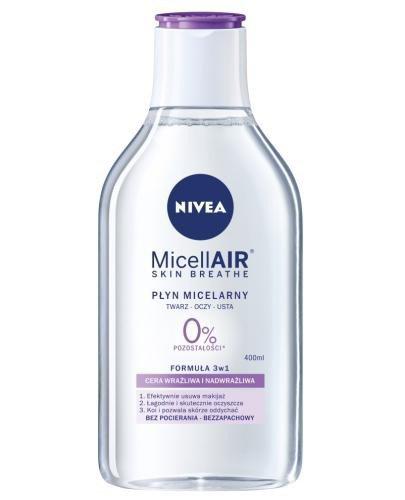 Nivea MicellAir Skin Breathe pielęgnujący płyn micelarny do cery wrażliwej i nadwrażl...