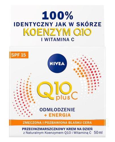 Nivea Q10 Plus C Odmłodzenie + Energia Przeciwzmarszczkowy krem na dzień SPF15 50 ml
