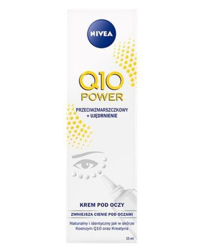 Nivea Q10 Power Przeciwzmarszczkowy + Ujędrnienie krem pod oczy 15 ml