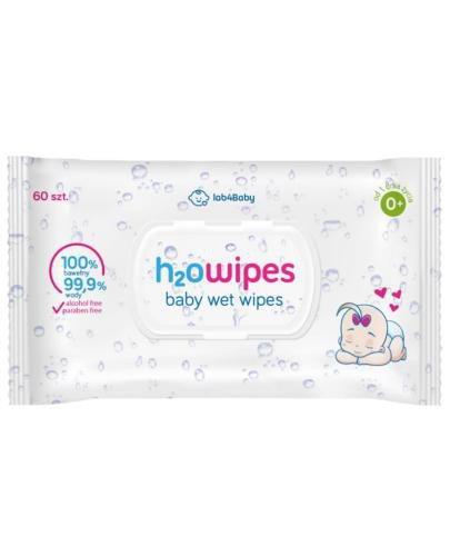 Lab4Baby h2O Wipes chusteczki nawilżane dla dzieci 0+ 60 sztuk