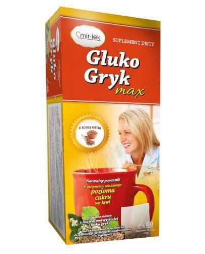 Gluko Gryk Max mieszanka ziołowa z liściem morwy białej i łuską gryki 60 saszeteki