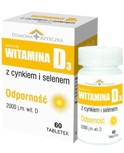 Domowa Apteczka Witamina D3 z cynkiem i selenem 60 tabletek