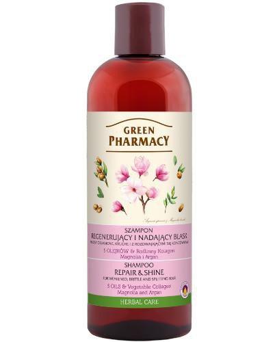 Green Pharmacy szampon do włosów osłabionych i kruchych magnolia i argan 500 ml