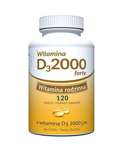 Witamina D 2000 Forte 120 kapsułek Uniphar