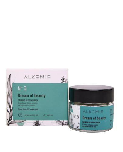 Alkemie No.3 Microbiome, Dream of beauty wyciszająca nocna maska-krem 15 ml