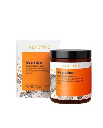 Alkemie No.5 Sun for everyone, My precious odżywczy peeling myjący do ciała 30 g