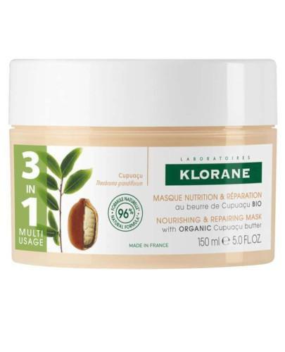 Klorane odżywcza i regenerująca maska z organicznym masłem  Cupuacu 150 ml