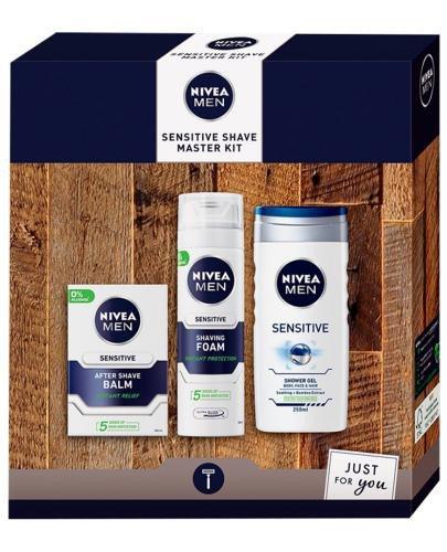 Nivea Men Sensitive Shave Master Kit zestaw kosmetyków 3 sztuki