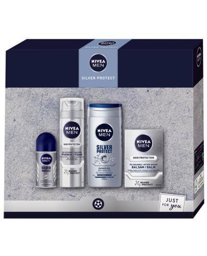 Nivea Men Silver Protect zestaw kosmetyków 4 sztuki