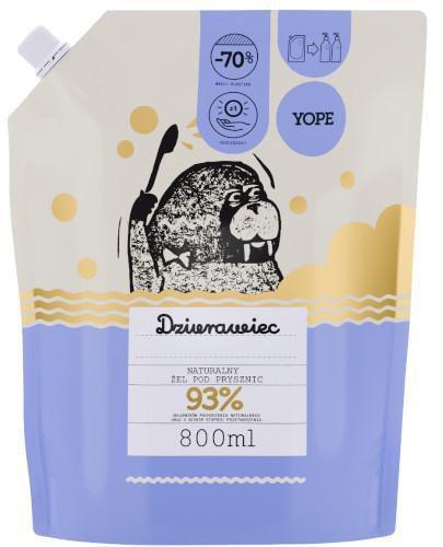 Yope naturalny żel pod prysznic dziurawiec zapas 800 ml