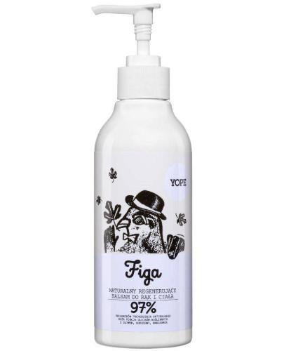 Yope naturalny regenerujący balsam do rąk i ciała figa 300 ml