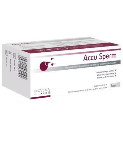 Accu Sperm test płodności dla mężczyzn określający stężenie plemników 1 sztuka