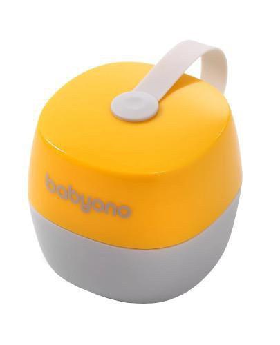 Babyono Natural Nursing pojemnik na smoczek żółty 1 sztuka [535/03]