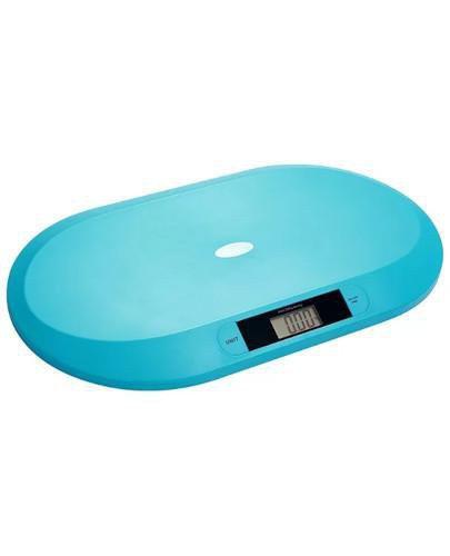Babyono waga elektroniczna dla niemowląt niebieska 1 sztuka [612/01]  whited-out