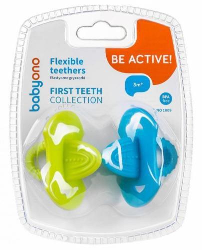 Babyono Gryzaczki elastyczne pierwsze ząbki [1009] 2 sztuki