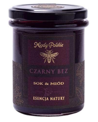 Miody Polskie miód z sokiem z czarnego bzu 250 g