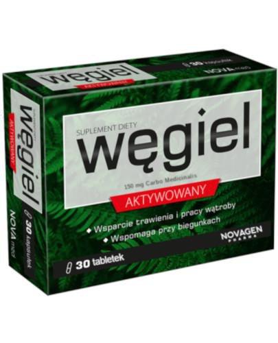 NovaGen Węgiel aktywowany 30 tabletek