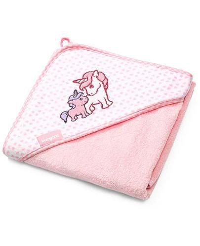 BabyOno okrycie kąpielowe z kapturem 100 x 100 cm różowe 1 sztuka [346/01]
